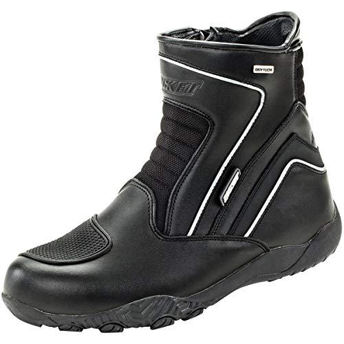 Joe Rocket Men's Meteor FX Mid Leather Motorcycle Riding Boot (Black, Size 8)