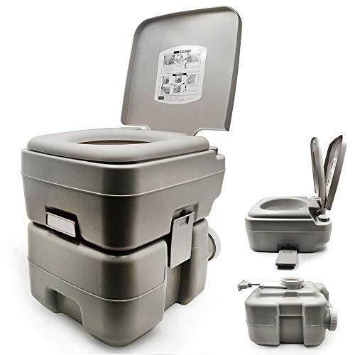 XKMT - Tragbarer Toilettenstuhl für Reisen, Camping, Outdoor/Innenbereich, 20 l