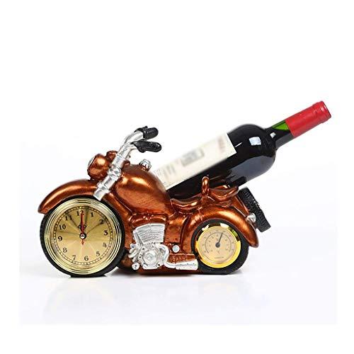 ZEH Estante de Vino Estante de Vino Botella de Vino Rack Creativo Estante de Vino Motocicleta Modelo Botella de Vino Rack Craft Resin Home Wine Rack Decoración de Almacenamiento FACAI