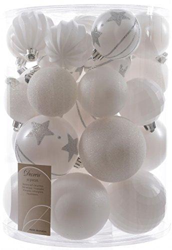 30X palle di Natale 6+ 8cm plastica opaco lustro Glitzer zucca Disco decorato