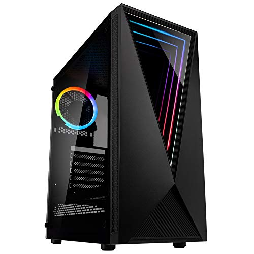 Kolink Void Case Mid-Tower RGB per PC Gaming - con Pannello Laterale in Vetro Temperato - Nero