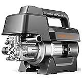 ZHIQ Lavadora de Alta Presión de 60bar, 300l/h Lavadora de Automóviles de Alta Presión 2000W - con Tubo de Salida de 10m, Pistola Rociadora Ajustable y Recipiente De Espuma