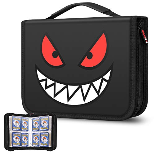 Brappo Card Holder Book Carrying Case for Pokemon Trading Cards, Holder Album Binder Compatible with 20 Premium 4-Pocket Pages, 320 Cards