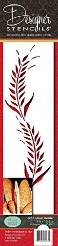 Designer Stencils Wheat Cake Stencil, Beige/semi-transparent