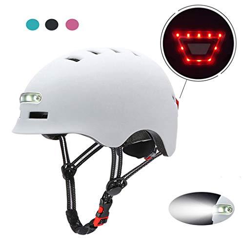 Fahrradhelm Sporthelm Mountainbike Helm Mit LED Licht CE-Zertifikat Unisex Männer Frauen Mountain & Road Fahrradhelm Einstellbarer Sicherheitsschutz Ski & Snowboard MTB rollerhelm 54-57cm/58-61cm