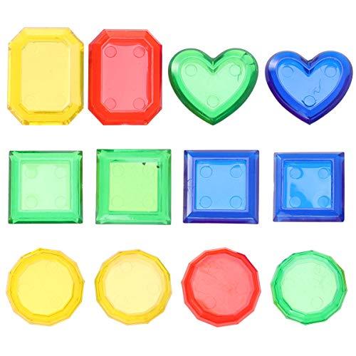 Toyvian Sinking Dive Gem Pool Spielzeug Set 12 STÜCKE Sommer Tauchen Trainingsspielzeug Diving Gem Badewanne Wasser Schwimmbad für Kinder Kinder (zufällige Farbe)