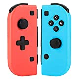 GEEMEE Mando para Nintendo Switch, Wireless Bluetooth Controller Joy con Gamepad Joystick De Reemplazo Rojo y Azul para Nintendo Switch Consola