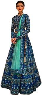 kd Net Printed Embroidered Anarkali Salwar Suit (Semi Stitched)