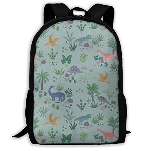 sghshsgh Mochilas Tipo Casual,School Backpack Dinosaur World 3D Adult Outdoor Leisure Sports Backpack High School Computer Bag