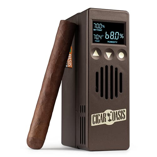 Cigar Oasis Plus 3.0 Electronic Humidifier For 4-10 cubic Ft. (300-1000 Cigars) Small Cabinet & End-Table Humidors – The Original Set It and Forget It Humidification Solution For Any Style Cigar Humidor