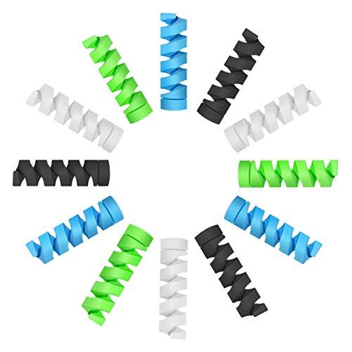 12 Pezzi Protezione per Cavi Micro USB Protettore per Laptop Computer Telefono Cellulare Caricabatterie Protezione Cavo Di Ricarica