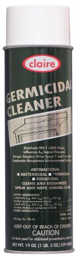 Claire CL873 Germicidal Foaming Cleaner and Disinfectant, 19 oz net wt, White