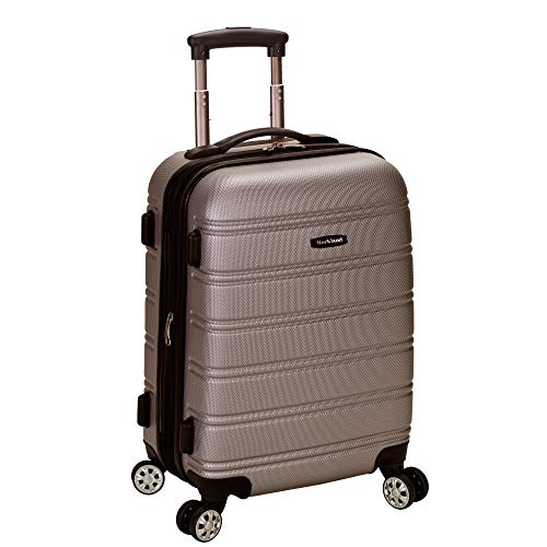 Rockland Melbourne Hardside Expandable Spinner Wheel Luggage, Silver, Carry-On 20-Inch