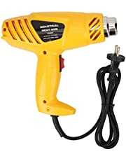 Power Heat Guns, 2000 W Lichtgewicht ABS Geel DIY Heat Guns, draagbaar voor lassen met 5 stks Nozzle EU Plug Repairing