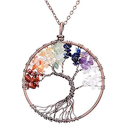 Tonpot Halskette, schön, elegant, einfach, Lebensbaum, Metall, zum Geburtstag, Weihnachten, Valentinstag, für Frauen und Mädchen