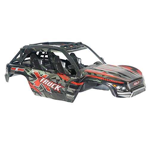 Ktyssp XLH Q902 9137 1/16 Off Road Nitro RC 1/16 Truck Body Shell Cover (Red)