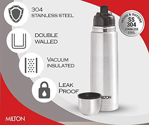 Milton Thermosteel Flip Lid Flask, 1000 milliliters, Silver 4
