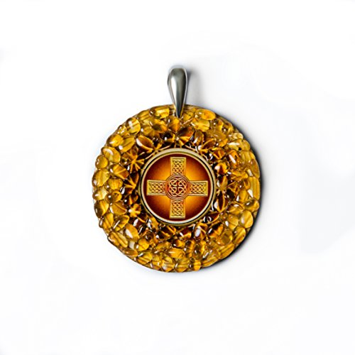 "Amber Magic Celtic Cross"" Bernstein-Amulett zum Schutz"
