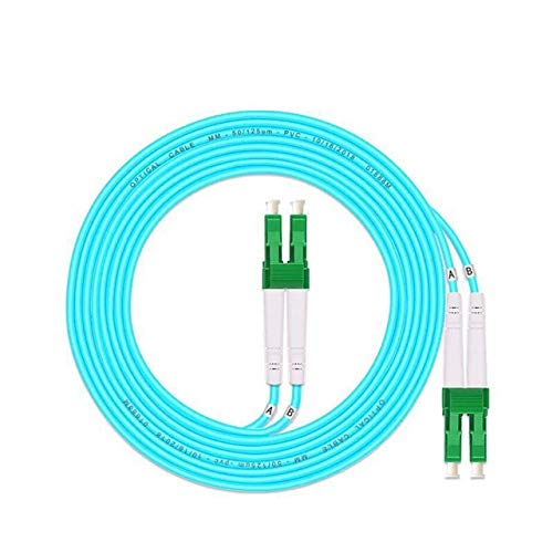 Without brand LT-Home, 5PCS SC/APC-SC/APC Multi-Mode-Faser OM3 Kabel Multimode Duplex Fiber Optical Patchkabel (Farbe : LC APC LC APC 1M)