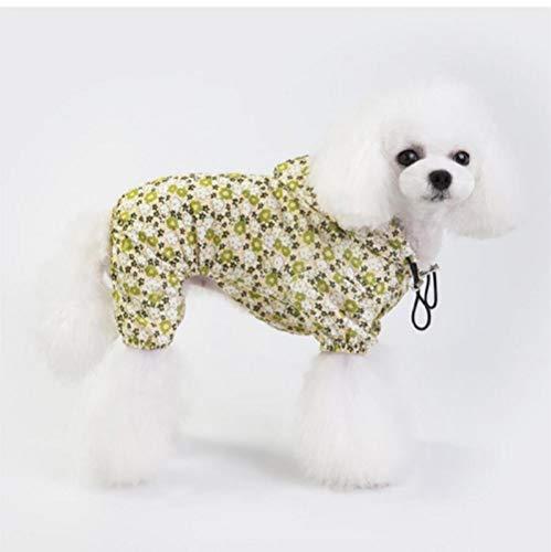 MUXIAND Huisdier Hond Kleding Regenjas Jumpsuit Met Hoed Regenachtige Dag Hond Puppy Casual Waterdichte Jas Kostuums Plus Size XXL Regenjas Voor Hond geel, S, Geel