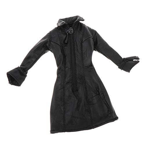 sharprepublic 1/12 Mujer Cool Mujer Mujer Chaqueta De Cuero Negra Abrigo Ropa
