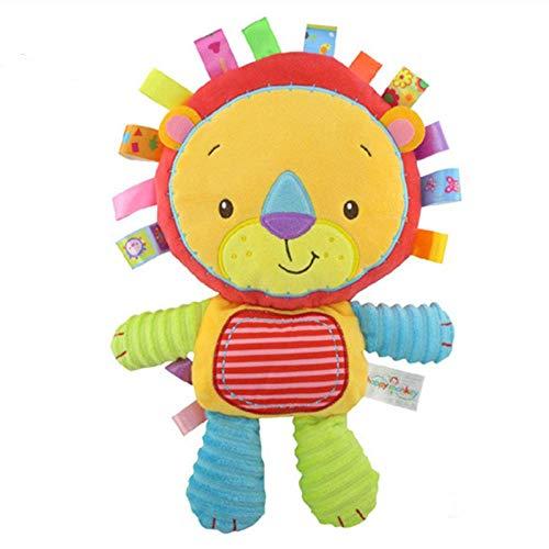 Weilaijaiju Muñeca de peluche juguetes para niños lindos sonajeros suaves regalos de cumpleaños Animal Apensus muñeca juguetes (color : león)