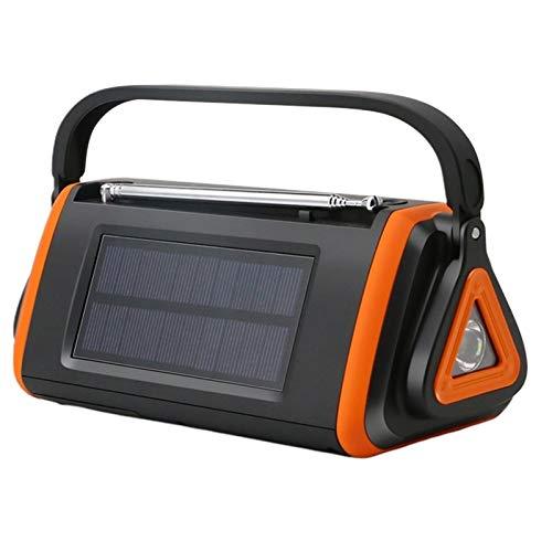 Lsmaa Radio de emergencia, pantalla digital de manivela de mano linterna LED proporciona iluminación previsión de energía solar el tiempo, usando alarmas y advertencias para rescatar en el tiempo