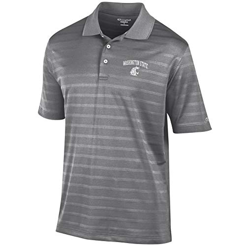 Champion Washington State University Men's Polo Textured Solid Polo (Large)