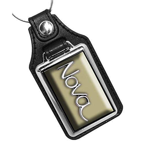 Brotherhood 1969 Compatible with Chevrolet Nova Emblem Design Olympic Gold Keychain Key Holder Key Ring for Men Heavy Duty Car Keyring for Men and Women