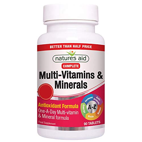 Natures Aid Multivitamins and Minerals, 90 Tablets