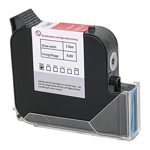 WELCZEK Original Solvent Quick-Drying Ink Cartridge, Printing Height 0.08-1 Inch, 45ml Durable and Waterproof Replacement Ink Cartridge for Handheld Inkjet Printer WK-02 (Black)