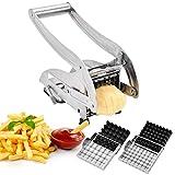 French Fry Cutter, IKOCO Potato Cutter Stainless Steel Potato Chipper Vegetable Slicer