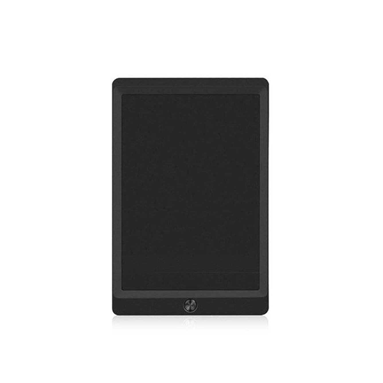 代表して噴水緯度タブレット - ポータブル落書きパッド、LCD手書きボード、黒板、部分消去手書きペーパーレスメモ帳、在宅勤務の学校のオフィス、10インチ、ギフト (Color : Black)