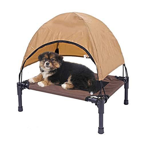 HIMA PETTR Erhöhtes Haustierbett mit Dach Baldachin, Outdoor + Indoor,S