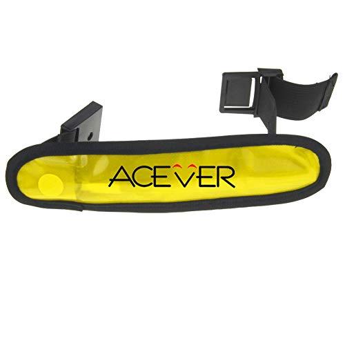 ACEVER LED High Visibility Flashing Safety Armband Cycling Jogging Walking Reflective LED Armband (Yellow)