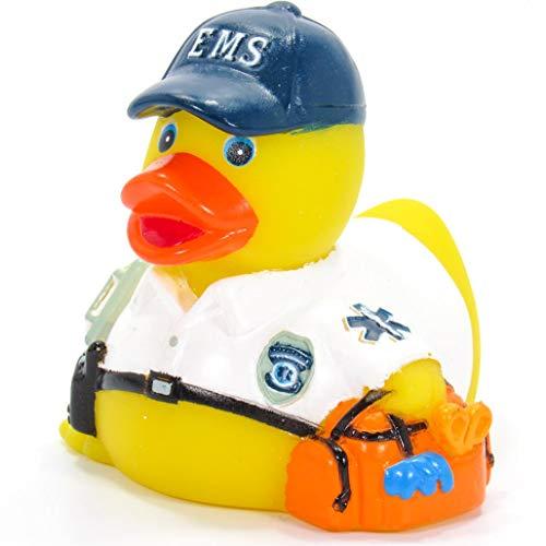 Ad Line EMT Emergency Medical Technician First Responder Rubber Duck Bath Toy | Sealed Mold Free | Child Safe