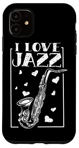 iPhone 11 I Love Jazz Music | Cute Soprano Saxophonists Fan Funny Gift Case