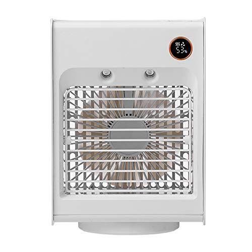 Lomelomme Climatizador portátil con refrigeración de agua, aire acondicionado personal, cabezal de vibración, ventilador de agua, mini aire acondicionado, cabezal de vibración, Blanco, Talla única