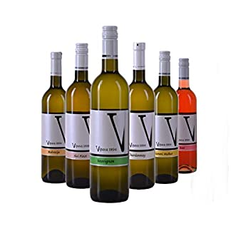 VIPAVA-1894-Weiwein-Probierpaket-White-Label-Weine-Gelber-Muskateller-Sauvignon-Chardonnay-Grauburgunder-Malvazija-Ros-Weiwein-Verkostung-Qualittswein-ZGP-6x-075L