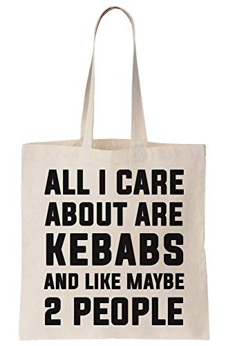 graphke All I Care About Are Kebabs And Like Maybe 2 People Canvas Tote Bag Tragetasche