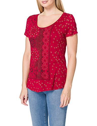 Desigual TS_Estambul Camiseta, Rojo, M para Mujer