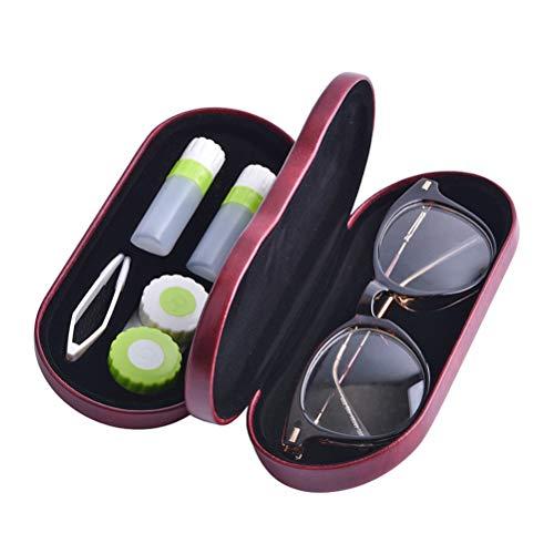 HEALIFTY 2-in-1 Brillen Kontaktlinsen Aufbewahrungsbox Doppelschicht Tragbare Kurzsichtige Linsenbox für Reisen