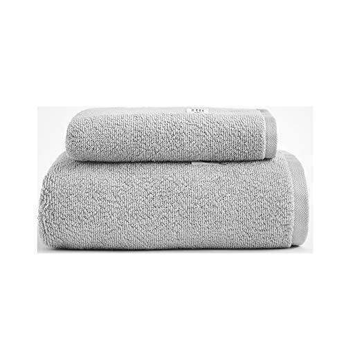 NAFE Juegos de Toallas de algodón, 100% Toallas de baño del Conjunto 2 Piezas para baño, Absorbente Hotel SPA Gimnasio 1 1 Toallas de baño Toallas de Mano, para el baño, la Dark Gray