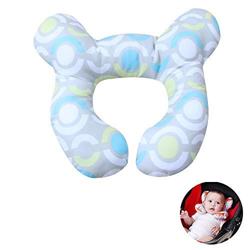 WZKJ Nackenkissen Baby Fahrradanhänger, Baby Kopfstützkissen für Neugeborenen-Autositz Perfekt für 0-1 jährige Jungen oder Mädchen (Color : Circle)