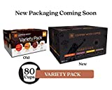 Copper Moon Coffee Single Serve Pods for Keurig 2.0 K-Cup Brewers Variety Pack (20 Breakfast Blend, 20 Donut Café, 20 Colombian Blend, 20French Roast) 80 Count