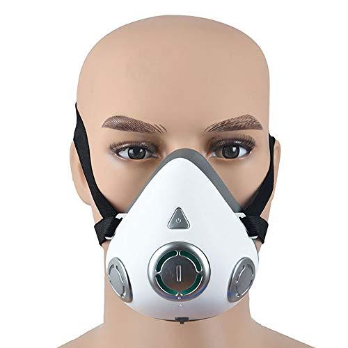 GEQ Filtro De Aire Eléctrico con Filtro De Carbón Activado, Apto para Adultos Fresca De Purificación De Aire De Polen PM2,5 Alérgica Polvo, 10 Filtros,Blanco