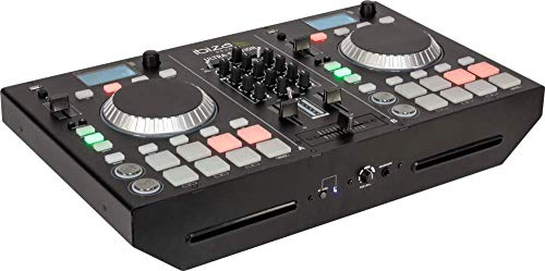 IBIZA ULTRA-STATION 2 KANAL DJ CONTROLLER MISCHPULT CD BLUETOOTH USB PARTY DISCO MUSIK EVENT DJ BÜHNE SOUNDSYSTEM