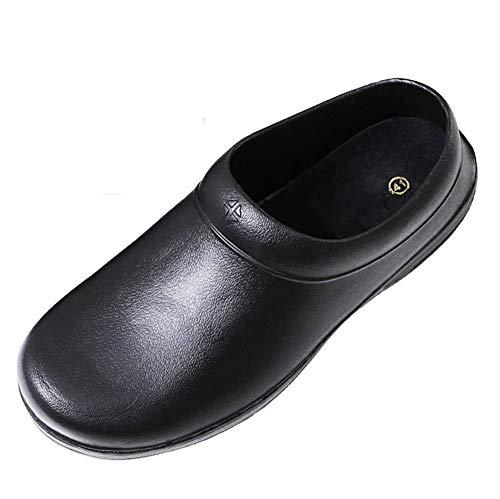 Nanxson Herren rutschfest Ölbeständige Küche Schuhe multifunktionen Arbeitsschuhe X0003 (43 EU, schwarz)