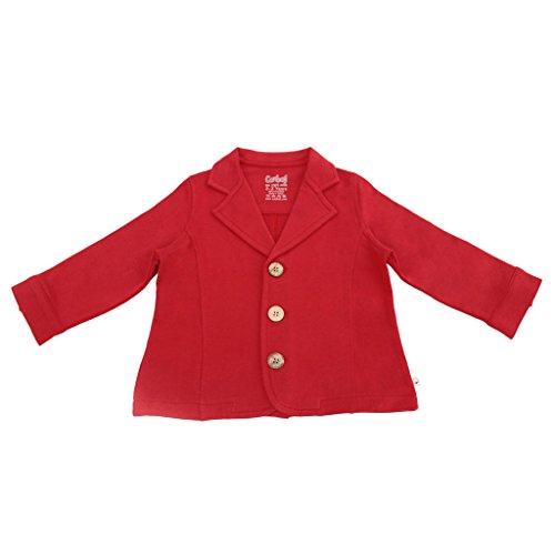 Bio - blazer, fleece jas, jongens, verschillende kleuren en maten 116 rood