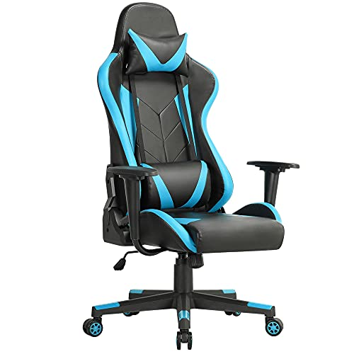 Yaheetech Gaming Chair Ergonomic Racing Style Recliner/Reclining Gaming/Office Chair High Back Executive Office/Computer Chair with Headrest & Lumbar Support Video Game Chair for Adult/Teen Neon